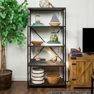Link to Carbon Loft Ora Industrial Rustic Bookshelf Similar Items in Office Storage & Organization