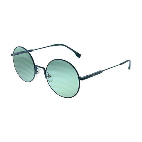Fendi Waves FF 0248 1ED XR Womens Green Frame Green Mirror Lens Sunglasses