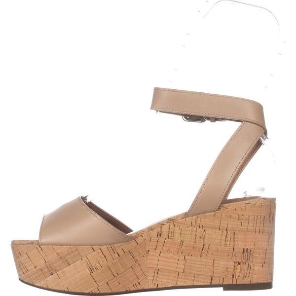 Coach Womens Becka Semi Matte Calf Leather Open Toe Casual Platform Sandals