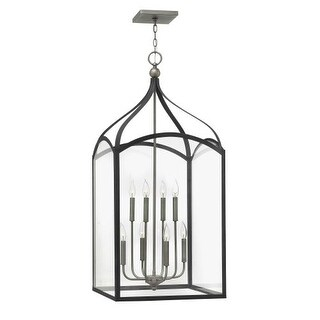 Hinkley Lighting 3418 8 Light Full Sized Single Pendant with Clear Glass Shades from the Clarendon Collection