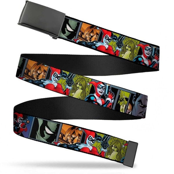 Blank Black Buckle Harley Quinn Night And Day Comic Book Character Web Belt
