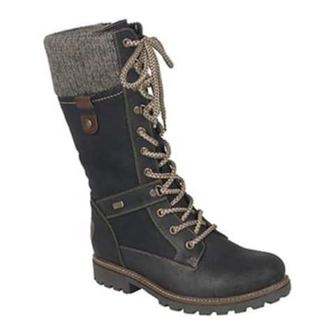 98a1166e04b51 Remonte Women's Santana 77 Hiker Boot Schwarz/Nero/Kastanie/Graphite