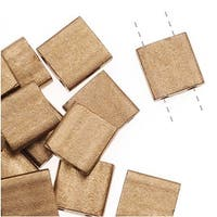 Miyuki Tila 2 Hole Square Beads Matte Metallic Gold 7.2Gr