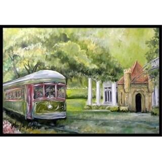 Carolines Treasures MW1091JMAT 24 x 36 in. Streetcar Next Stop Audubon Park Indoor Or Outdoor Doormat