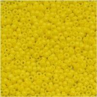 Toho Round Seed Beads 15/0 42 'Opaque Dandelion' 8g
