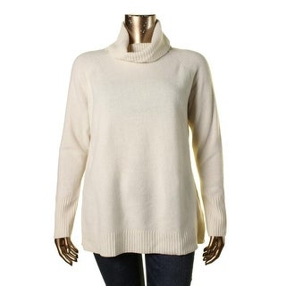 Lauren Ralph Lauren Womens Turtleneck Cashmere Blend Pullover Sweater
