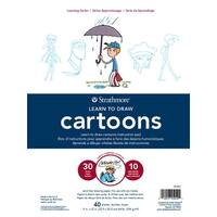 Strathmore Learn to Draw Instructional Pad, 9 x 12 Inches, Cartoons