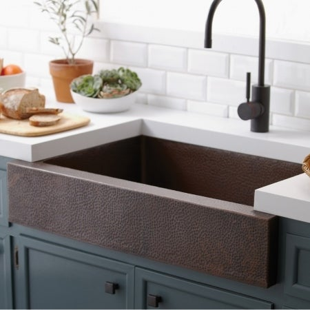 Native Trails Cpk591 Paragon Copper Kitchen Sink Brushed Nickel