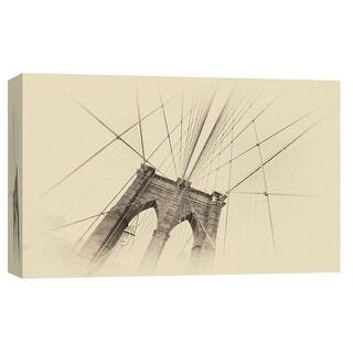 "PTM Images 9-103820  PTM Canvas Collection 8"" x 10"" - ""Brooklyn Bridge 2"" Giclee Brooklyn Bridge Art Print on Canvas"