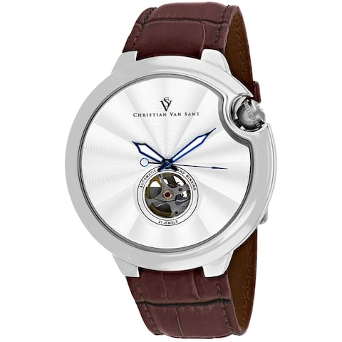 Christian Van Sant Men's Cyclone Automatic Silver Dial Watch - CV0141