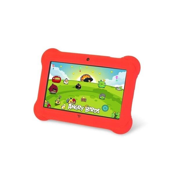 "Worryfree Gadgets Kidszeepad-Red 7"" 4Gb Android 4.4 Kitkat Kids Tablet - Red"