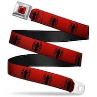 """Ultimate Spider Man Spider Logo2 Full Color Red Black """"New"""" Spider Logo Seatbelt Belt"""