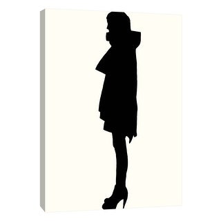 """PTM Images 9-108923  PTM Canvas Collection 10"""" x 8"""" - """"Fashion Icon Series 2000's"""" Giclee Silhouettes Art Print on Canvas"""