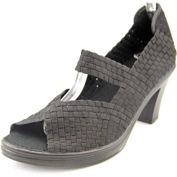 Bernie Mev. Clyde Women Open Toe Synthetic Black Wedge Sandal