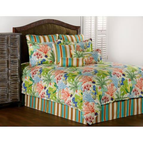 Island Breeze tropical comforter mini set