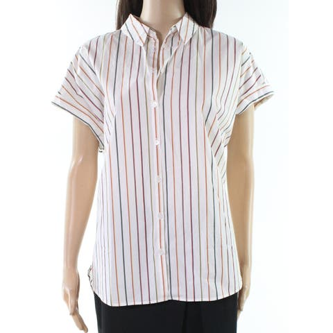 Madewell Womens Button Down Shirt White Size XS Central Sadie Striped