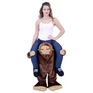 Sasquatch Ride On Costume, Bigfoot Costume - as shown - Medium