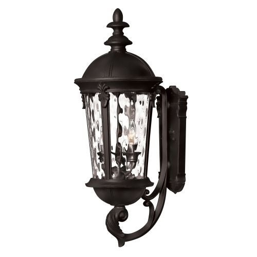 "Hinkley Lighting 1894BK 25.5"" Height 3 Light Lantern Outdoor Wall Sconce in Black from the Windsor Collection"
