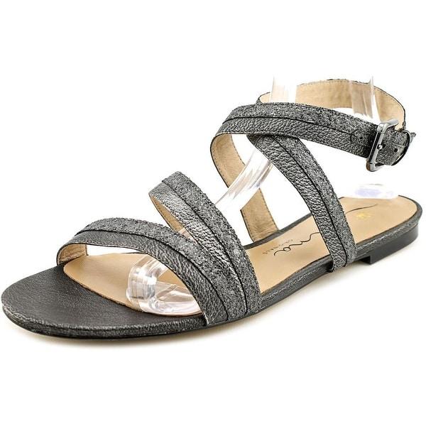 Nina Solana Women Open-Toe Leather Slingback Sandal