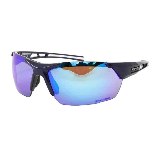 8d122ec07d Shop Rawlings Men s Athletic Sunglasses 33 Navy Blue Mirrored Lens  10237301.QTM - Navy - Adult - Free Shipping On Orders Over  45 - Overstock  - 21162418