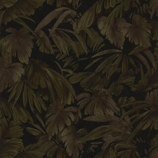 Brewster 347-42859 Raven Black Palm Tree Leaf Texture Wallpaper