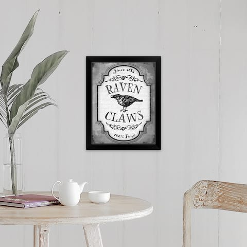 """Raven Claws"" Black Framed Print"