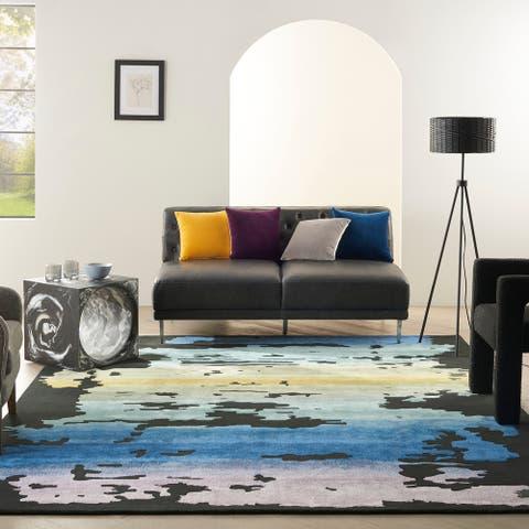 Nourison Prismatic Modern Abstract Sunset Shimmer Area Rug
