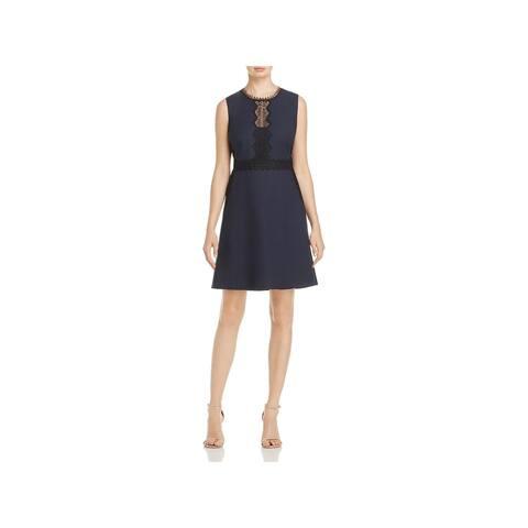 T Tahari Womens Aubrey Wear to Work Dress Sleeveless Lace Trim
