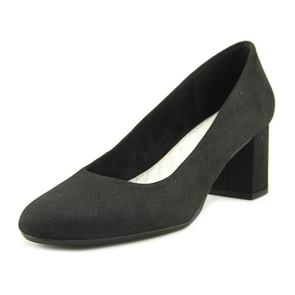Easy Street Proper Women W Round Toe Synthetic Black Heels
