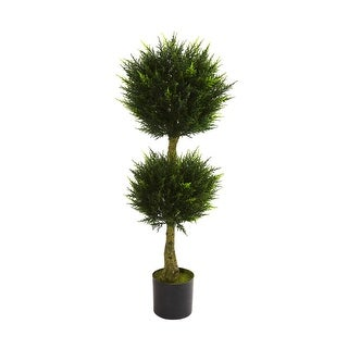 Nearly Natural 4' Double Ball Cypress Topiary UV Resistant