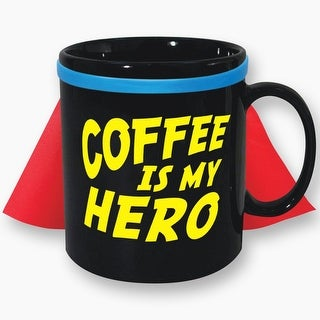 Coffee Is My Hero 30oz. Caped Mug - Multi