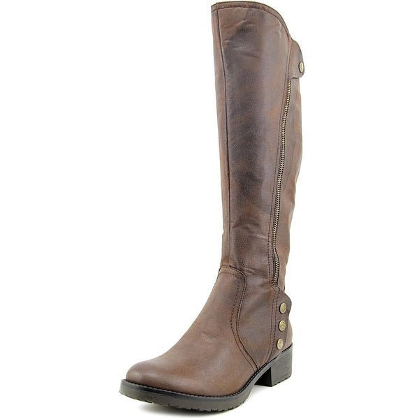 Baretraps Oria Women Round Toe Synthetic Brown Knee High Boot