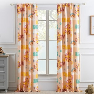 Link to Greenland Home Fashions Cassidy 4-Piece Curtain Panel Set Similar Items in Window Treatments