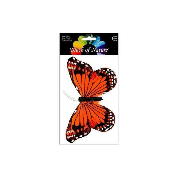 "Midwest Design Butterfly 6"" Monarch Orange/Blk 1pc"