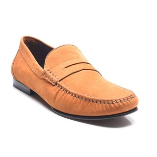 Bruno Magli Men's Leather Suede Penny Loafers Shoes Brown