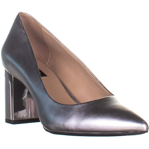 DKNY Womens Elie Leather Closed Toe Classic Pumps
