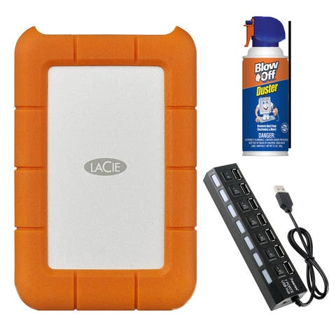 "LaCie Rugged 2 TB 2.5"" External Hard Drive STFR2000800 Bundle"