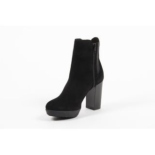 Versace 1969 V Italia Black Suede Ankle Boot C22CN