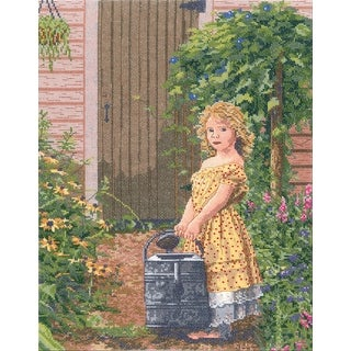 "The Gardener's Daughter Counted Cross Stitch Kit-12""X16"" 14 Count"