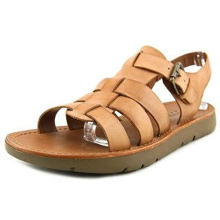 Bacco Bucci Cutter Men Open-Toe Leather Tan Fisherman Sandal