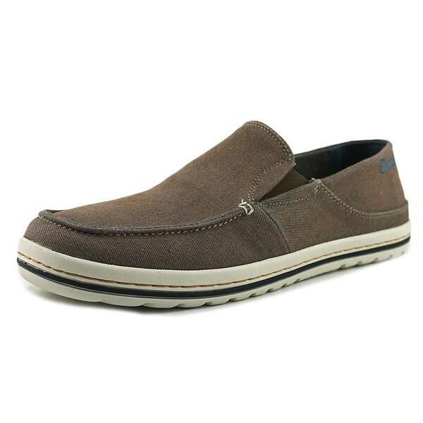 Simple Dare Men Moc Toe Leather Loafer
