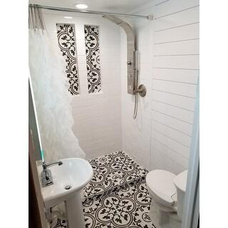 Chic Sheer Voile Vertical Waterfall Ruffled Shower Curtain