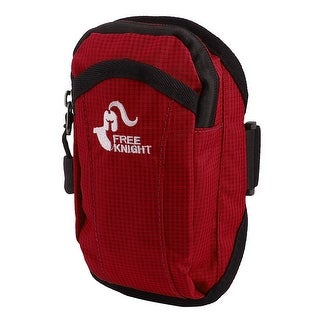 FreeKnight Authorized Sports Jogging Nylon Arm Bag Phone Pack Holder Red