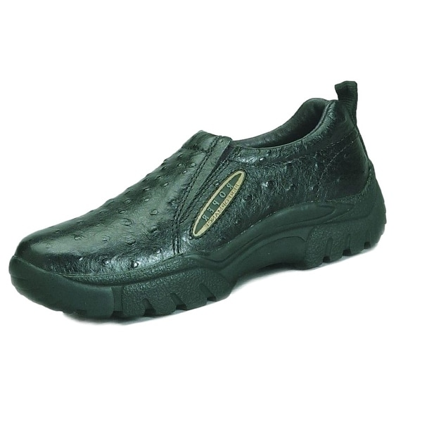 Roper Western Shoes Mens Ostrich Slip On Black