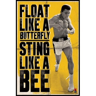 ''Muhammad Ali: Float Like a Butterfly'' by Anon Celebrities Art Print (36 x 24 in.)