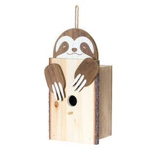 """Link to Set of 4 Brown and White Sloth Birdhouse Hanging Decorations 12"""" Similar Items in Decorative Accessories"""