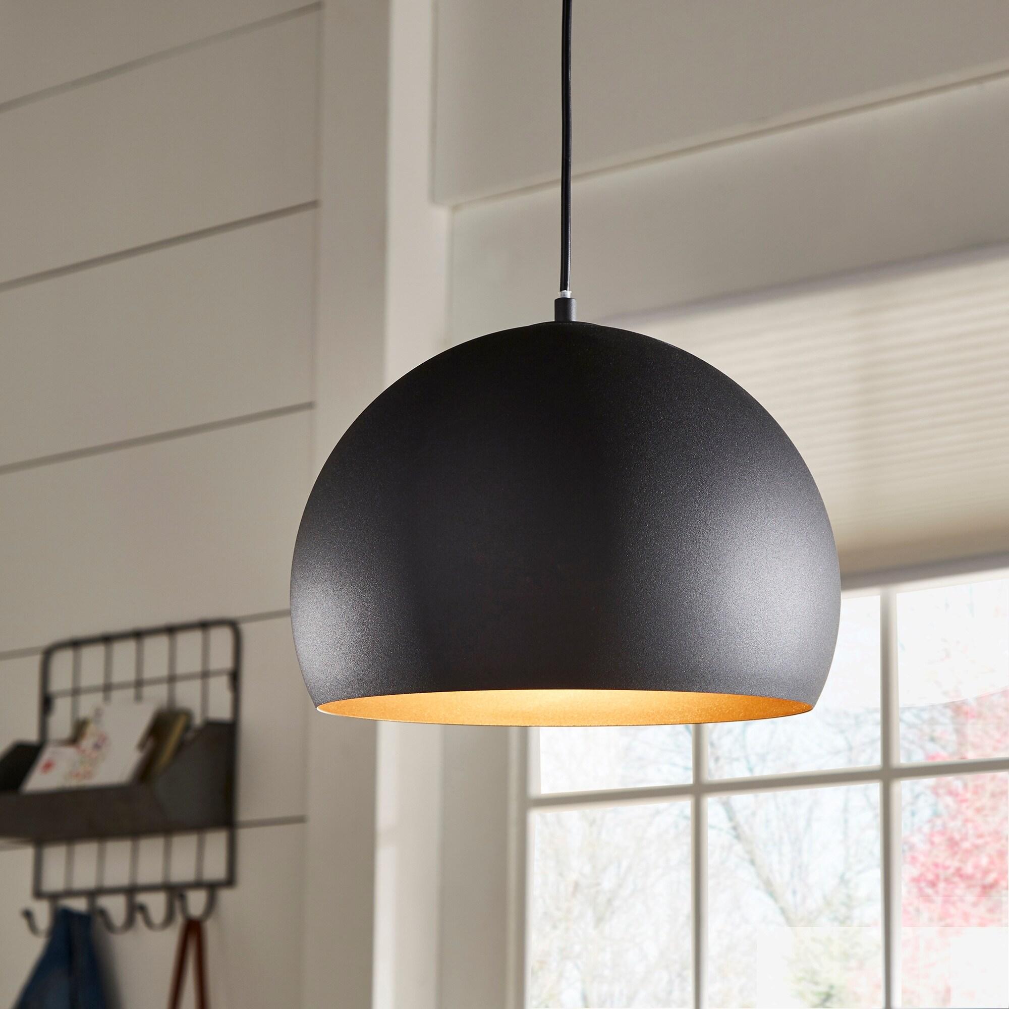 Shop Black Friday Deals On Jilian Black Dome Pendant Light By Inspire Q Modern Pendant Light Overstock 31053282