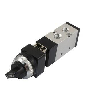 """Unique Bargains Unique Bargains 1/4"""" PT Selector Knobs Direct Action 2 Position 5 Way Pneumatic Mechanical Valve"""