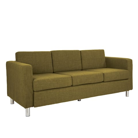 Ave Six Pacific Upholstered Sofa with Chrome Legs
