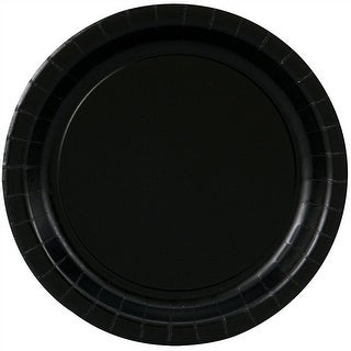 "Black Paper Plates - 7"""